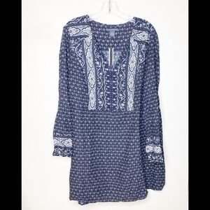 NWT Chelsea & Theodore Paisley Long Sleeve Dress